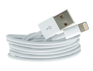 Data Charging Cable iPhone XR XS X 8 7 5 5S 5SE 6 6S iPad iPod White