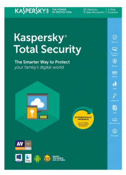 Kaspersky Total Security 2019 10 Devices 1 Yea PC/Mac/Android