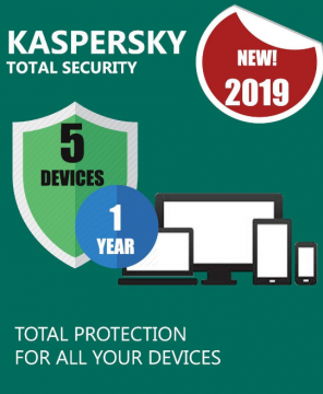 Kaspersky Total Security 2019 5 Devices 1 Year  PC/Mac/Android
