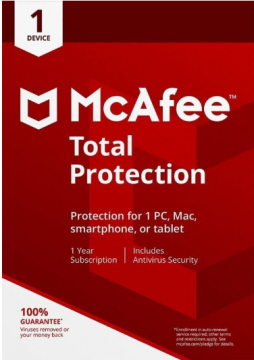McAfee Total Protection 2019 Internet Security Subscription