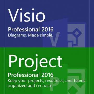 Microsoft Visio Project Office Professional 2016 Bundle