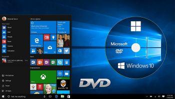 Windows 10 Home on DVD